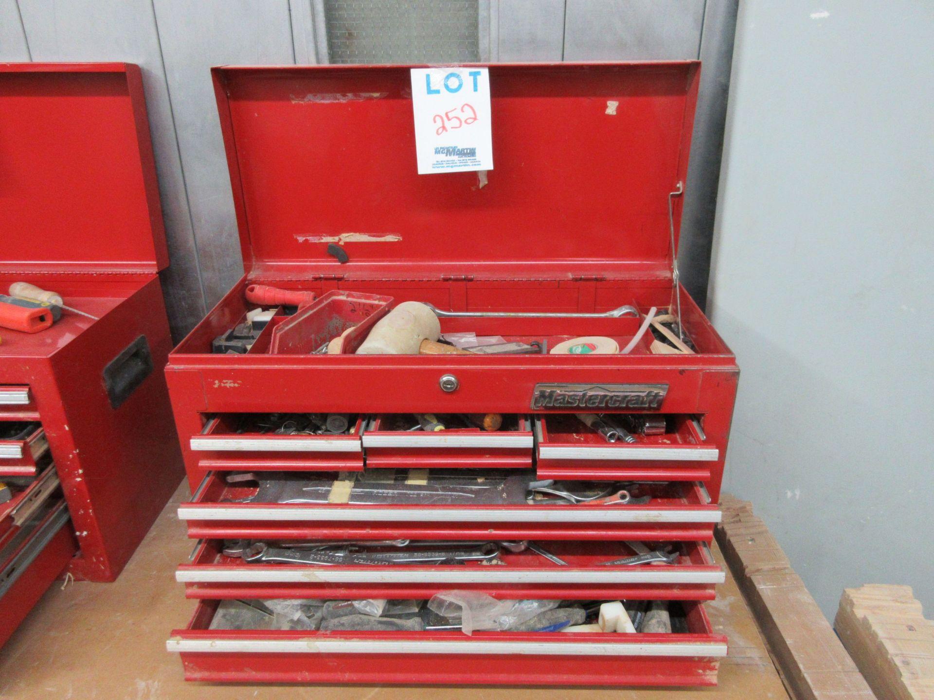 Lot 252 - Tool box c/w tools