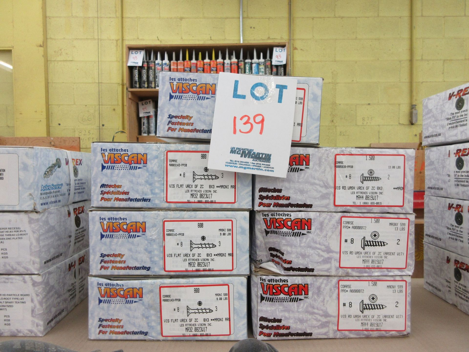 Lot 139 - Assorted boxes of screws (7)