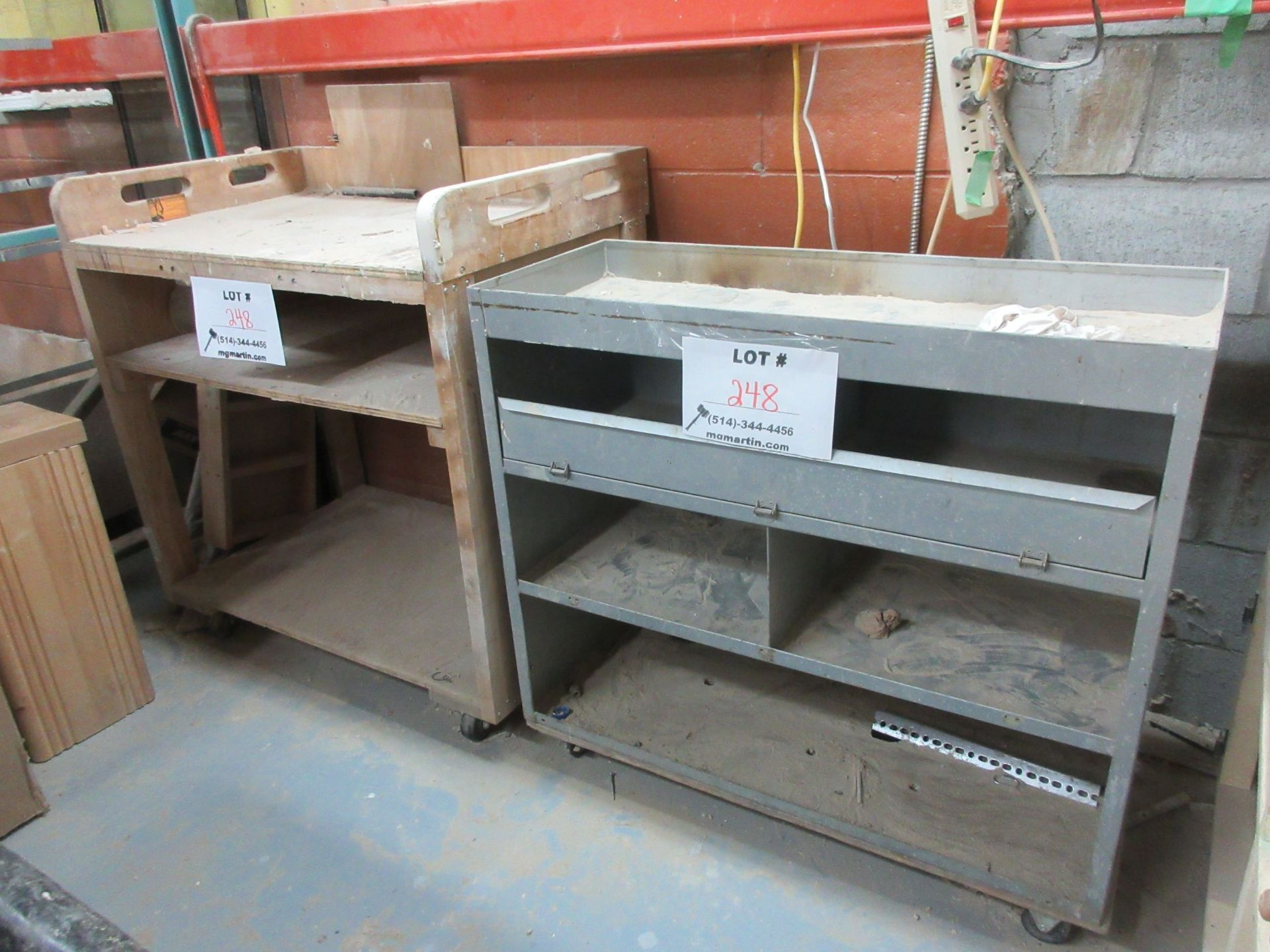 Lot 248 - LOT including assorted cabinets, etc.