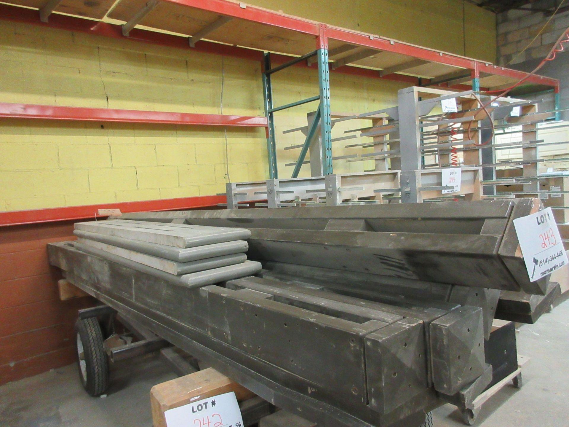 Lot 243 - LOT wood columns, etc.