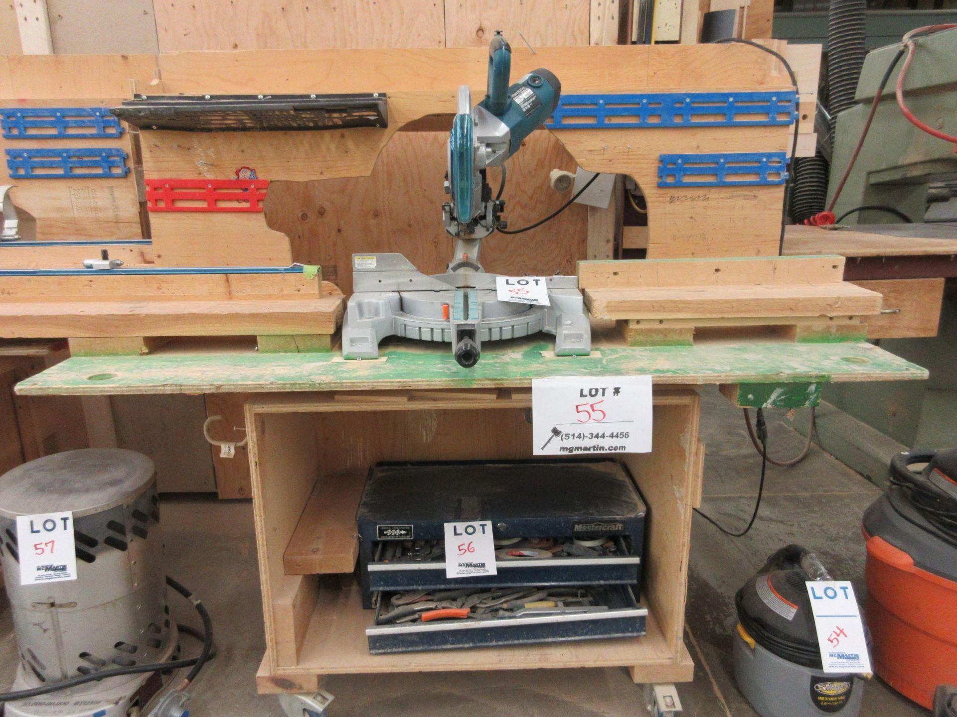 MAKITA miter saw, Mod: LS1018L c/w work table
