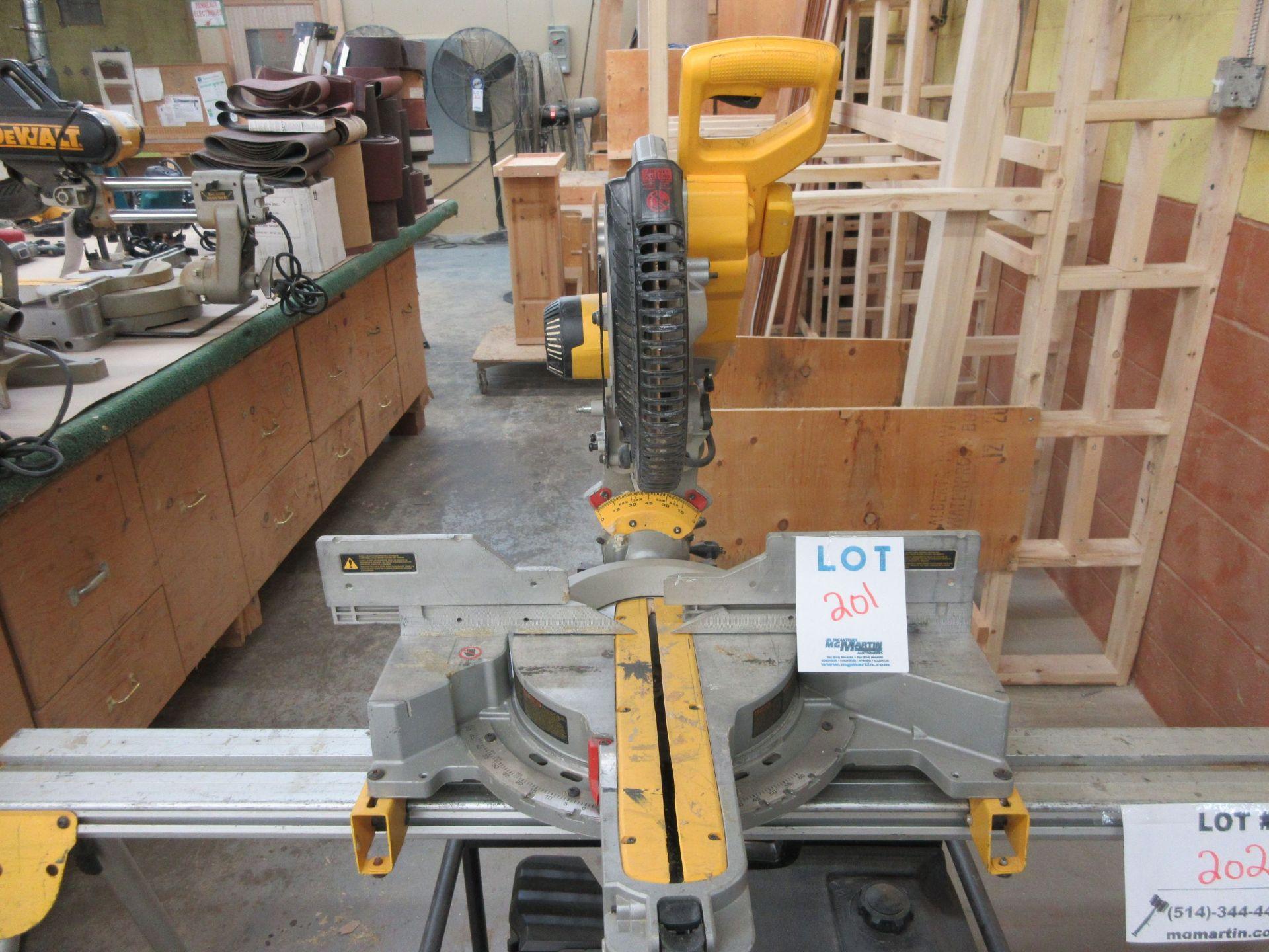 Lot 201 - DEWALT miter saw Mod: DWS 780