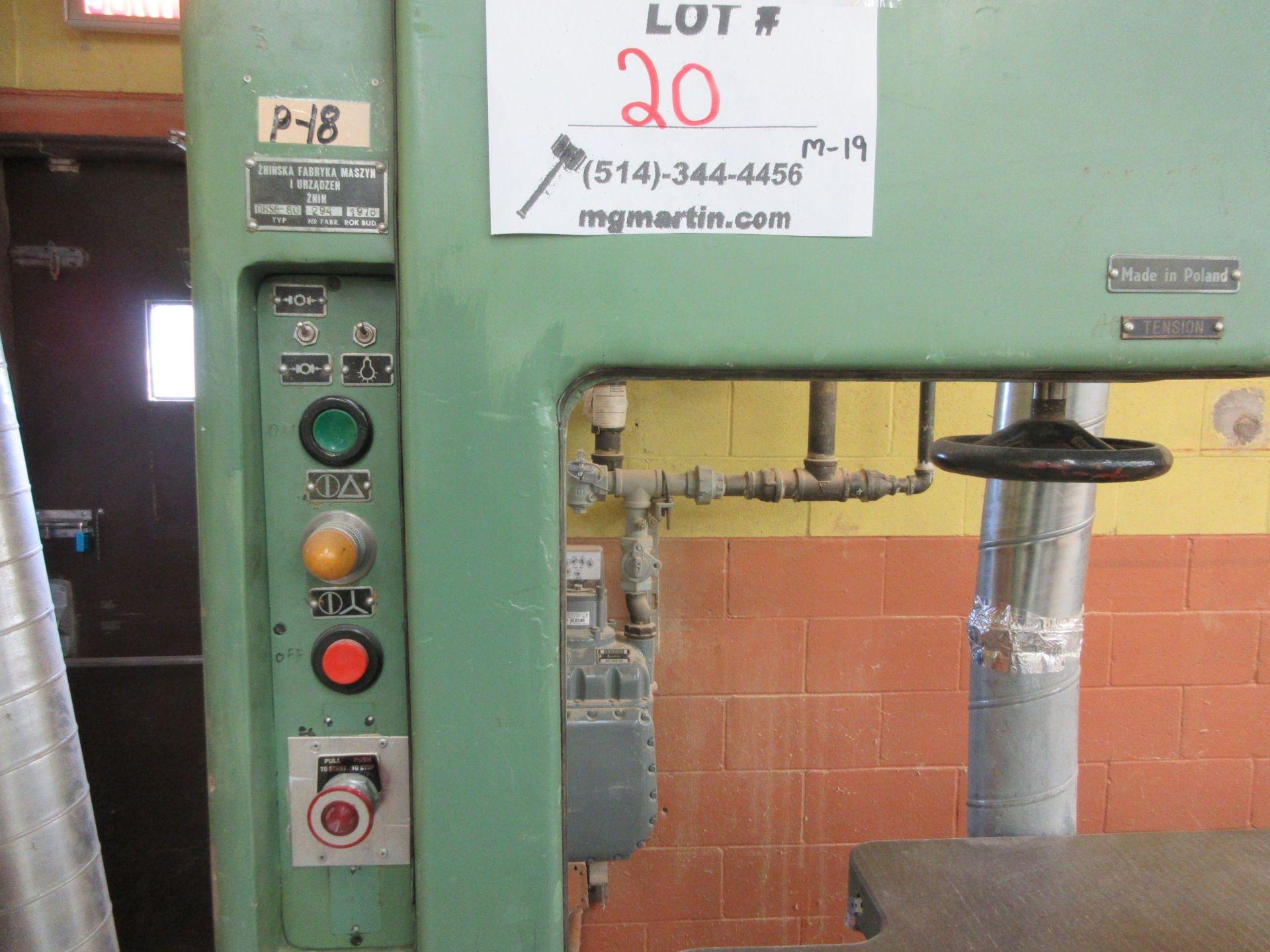"Lot 20 - ZEFAM 28"" band saw, Mod: DRSC-80, 5 HP, 600 volts"