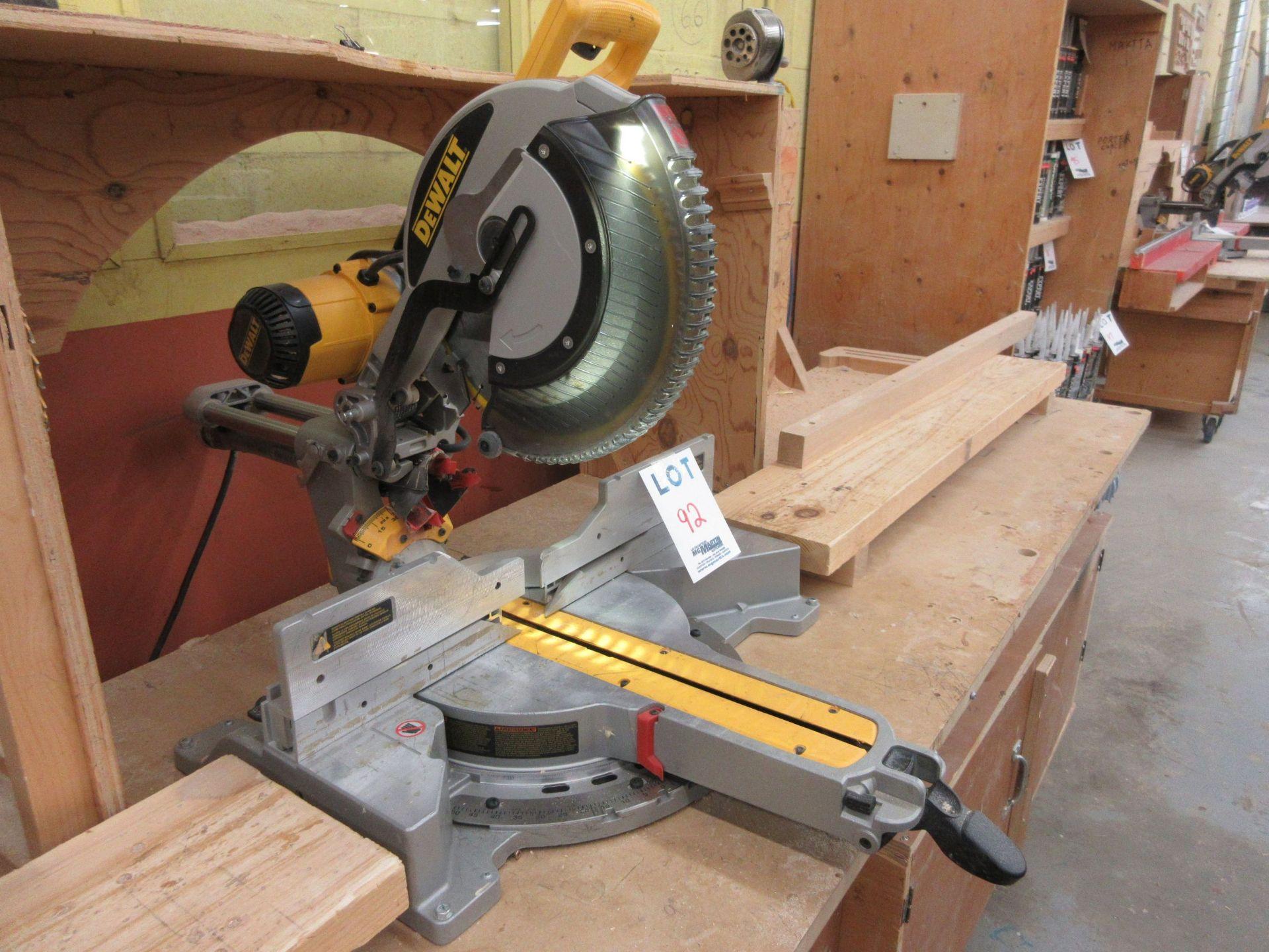DEWALT miter saw Mod: DWS 780, c/w work cabinet - Image 2 of 5