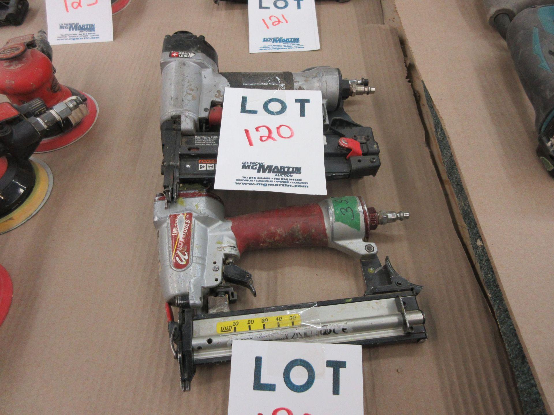 Lot 120 - PORTER CABLE, PRO PULSE air guns (3)