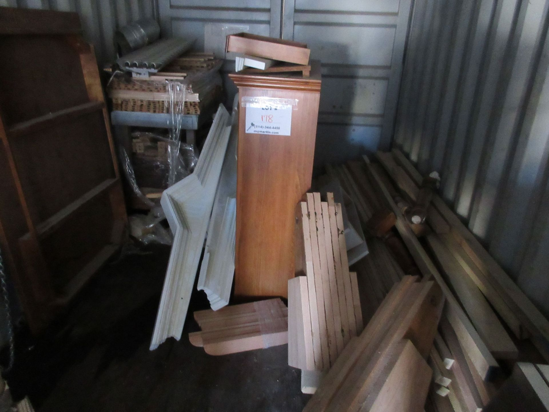 Lot 178 - LOT assorted wood & cabinet