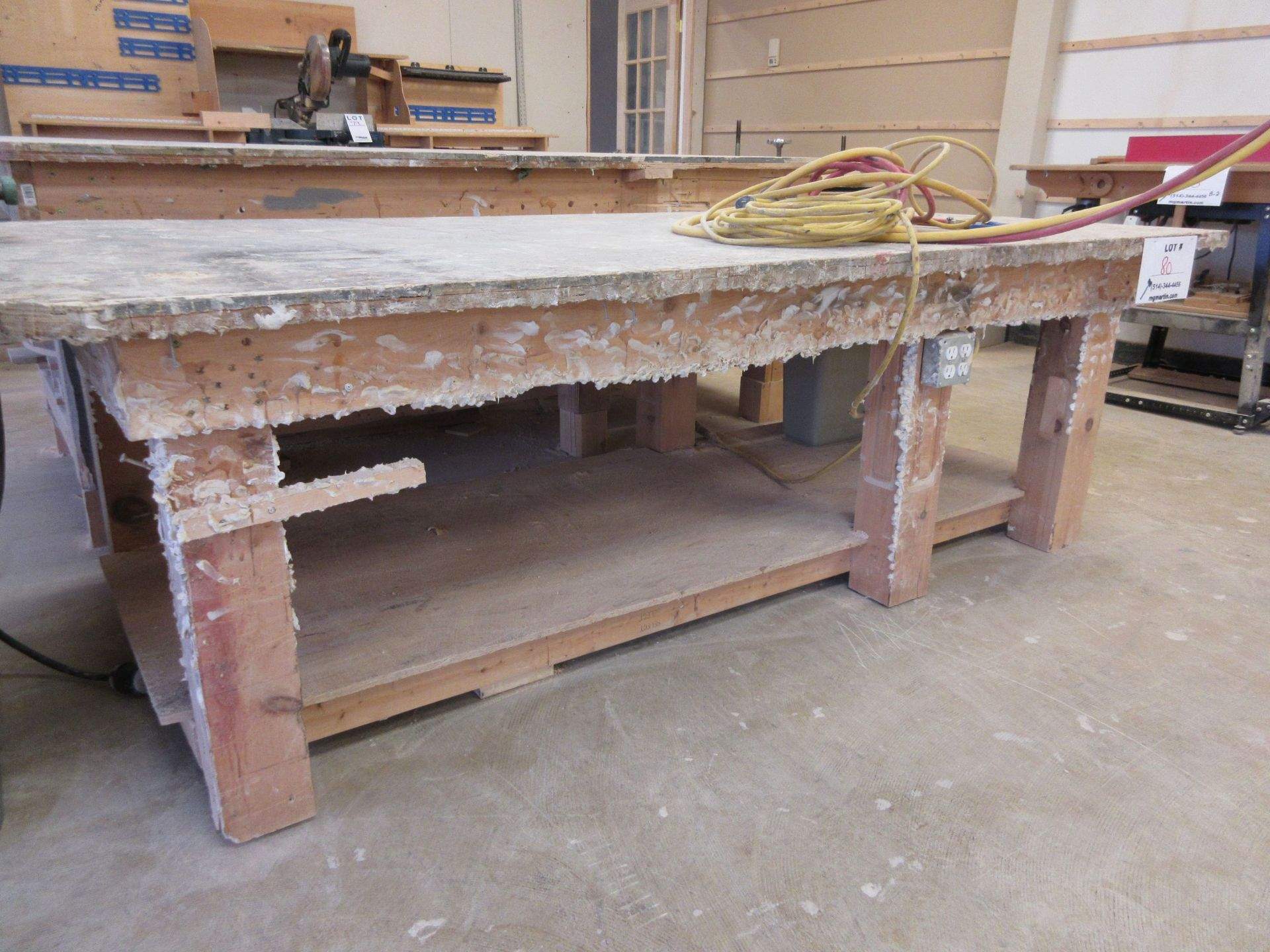 LOT including 2 work tables aprox 4ft x 8ft - Image 2 of 6