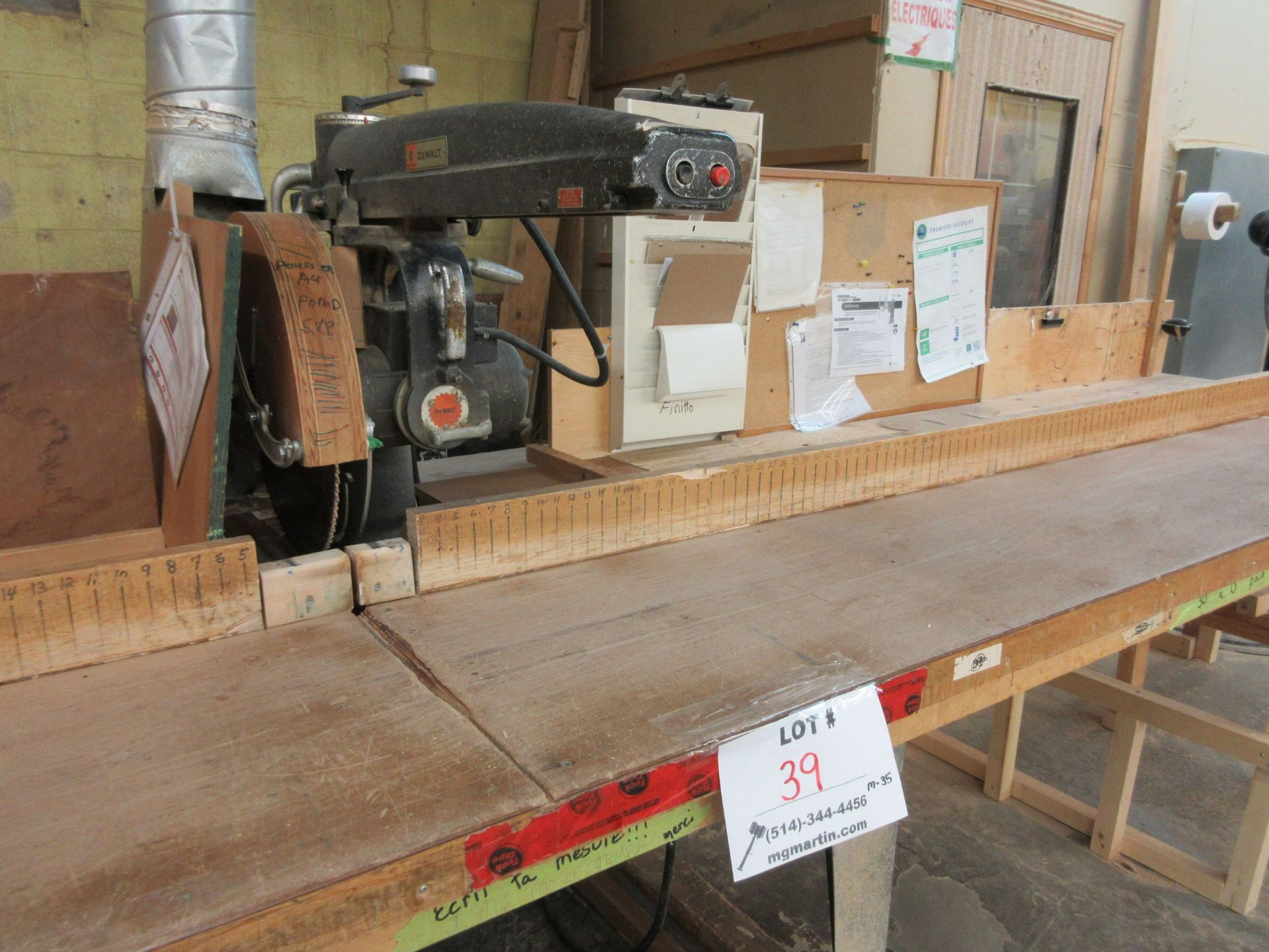 """DEWALT radial saw 16"""" Mod: 3526-02, 600 volts (SUBJECT TO BANK APPROVAL) - Image 2 of 3"""