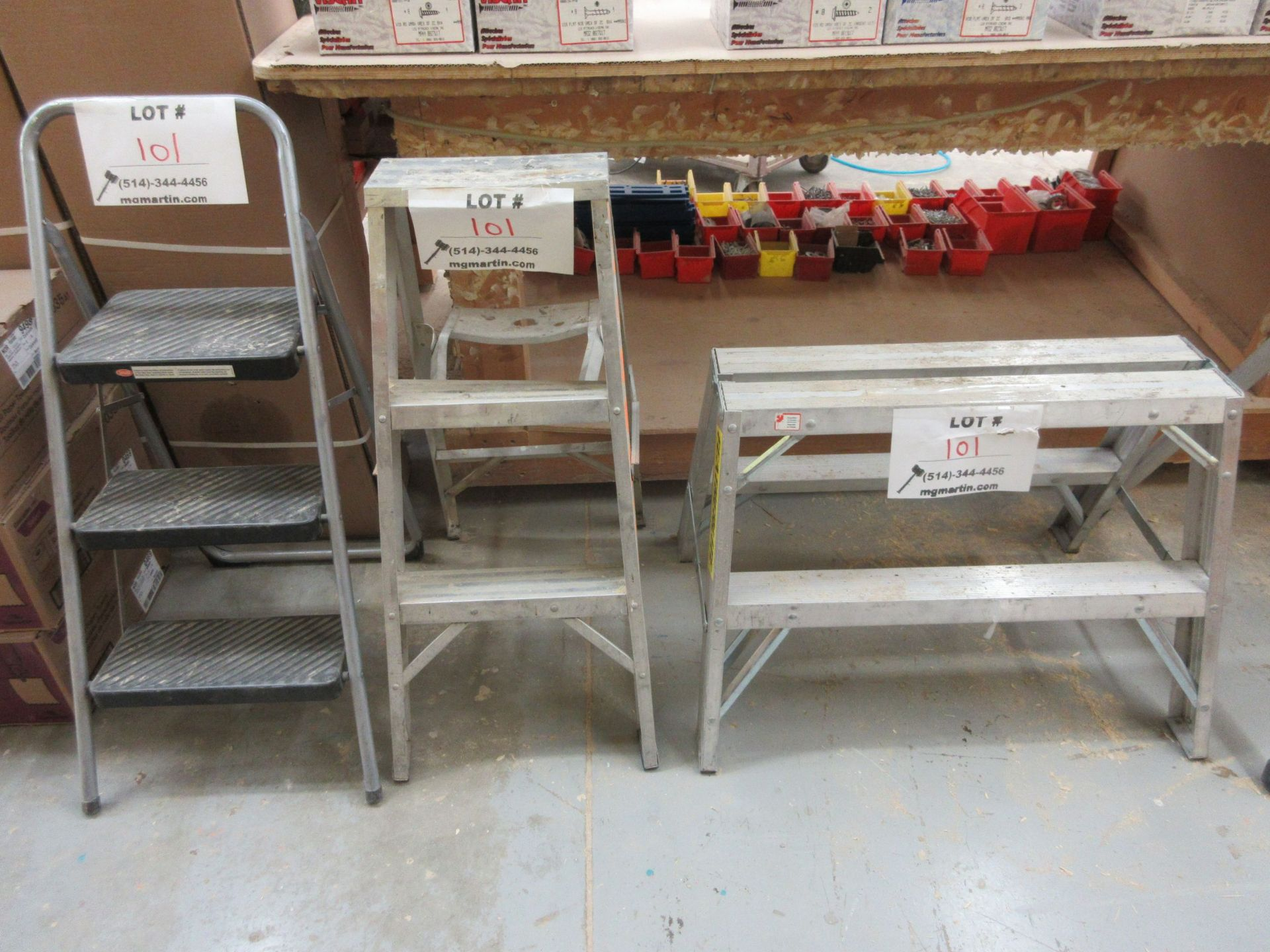 LOT including 3 step ladders