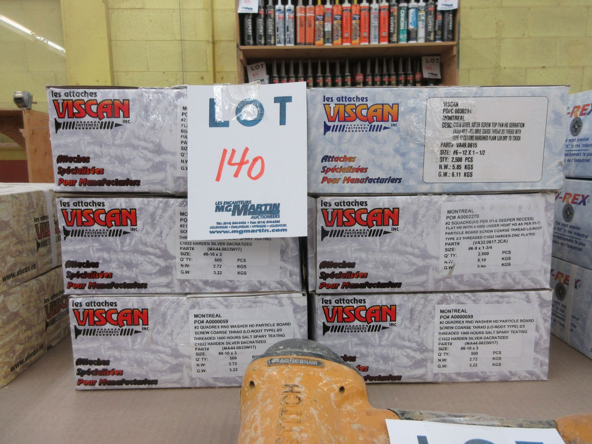 Lot 140 - Assorted boxes of screws (6)