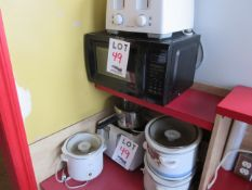 LOT including microwave oven, toaster, etc.
