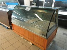 "HENNY PENNY heated merchandiser display unit w/t glass model: HMR-105, aprox. 69""w x 43""d x 50""h"