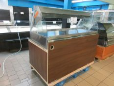 "HENNY PENNY heated merchandiser display unit w/t glass model: HMR-105, aprox. 69""w x 36""d x 62""h"