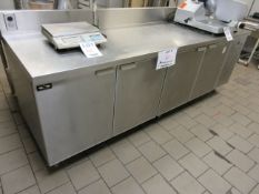 "CUSTOM DIAMOND MONTREAL (4) door stainless steel refrigerated unit w/t built in compressor 96""w x"