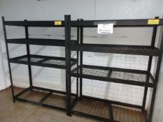 "Metal shelving unit 53""w x 24""d x 72""h (3)"