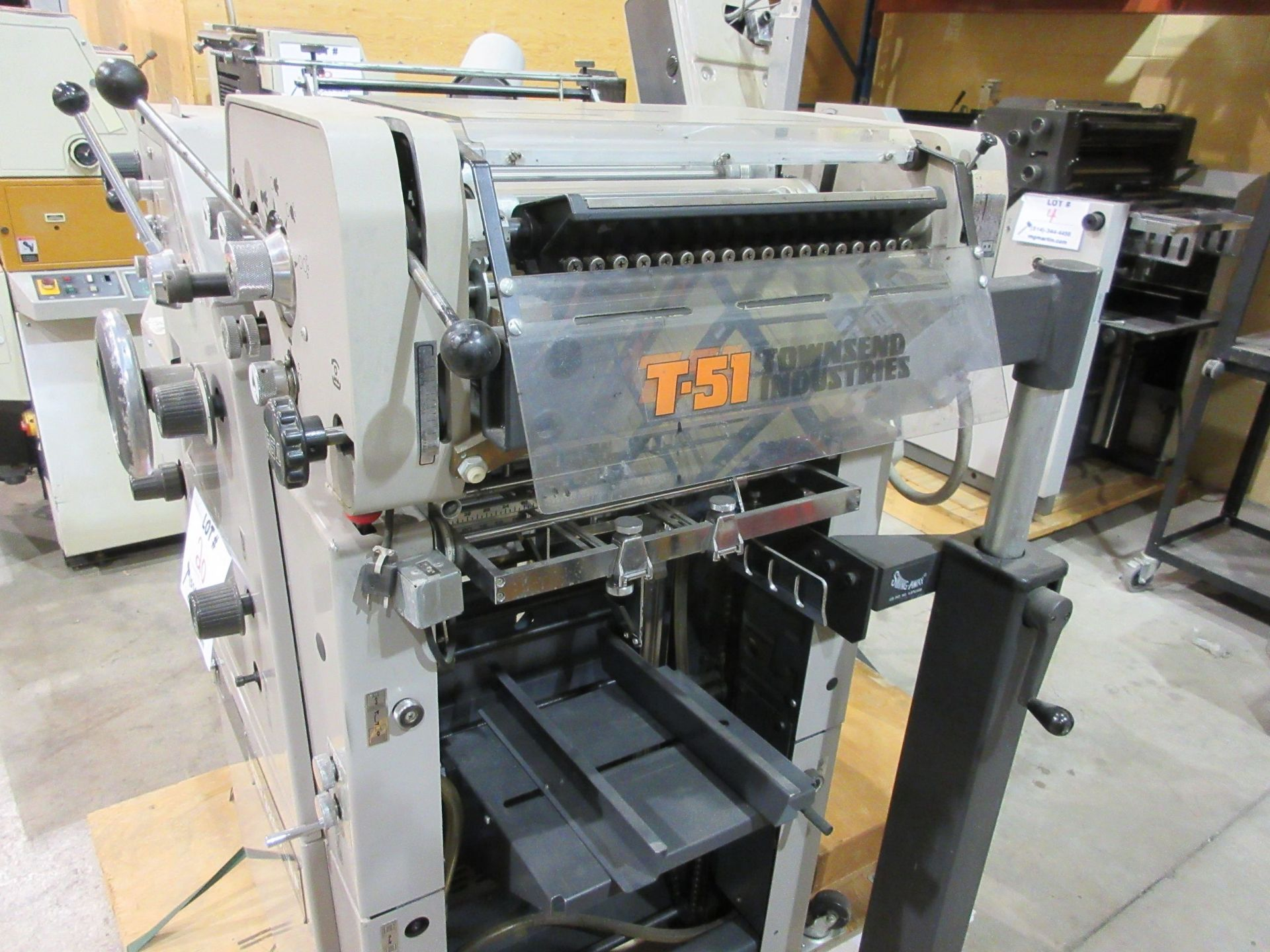 RYOBI ITEK 3200-NP number & perforating (2) color duplicator c/w T-51 color head - Image 5 of 8