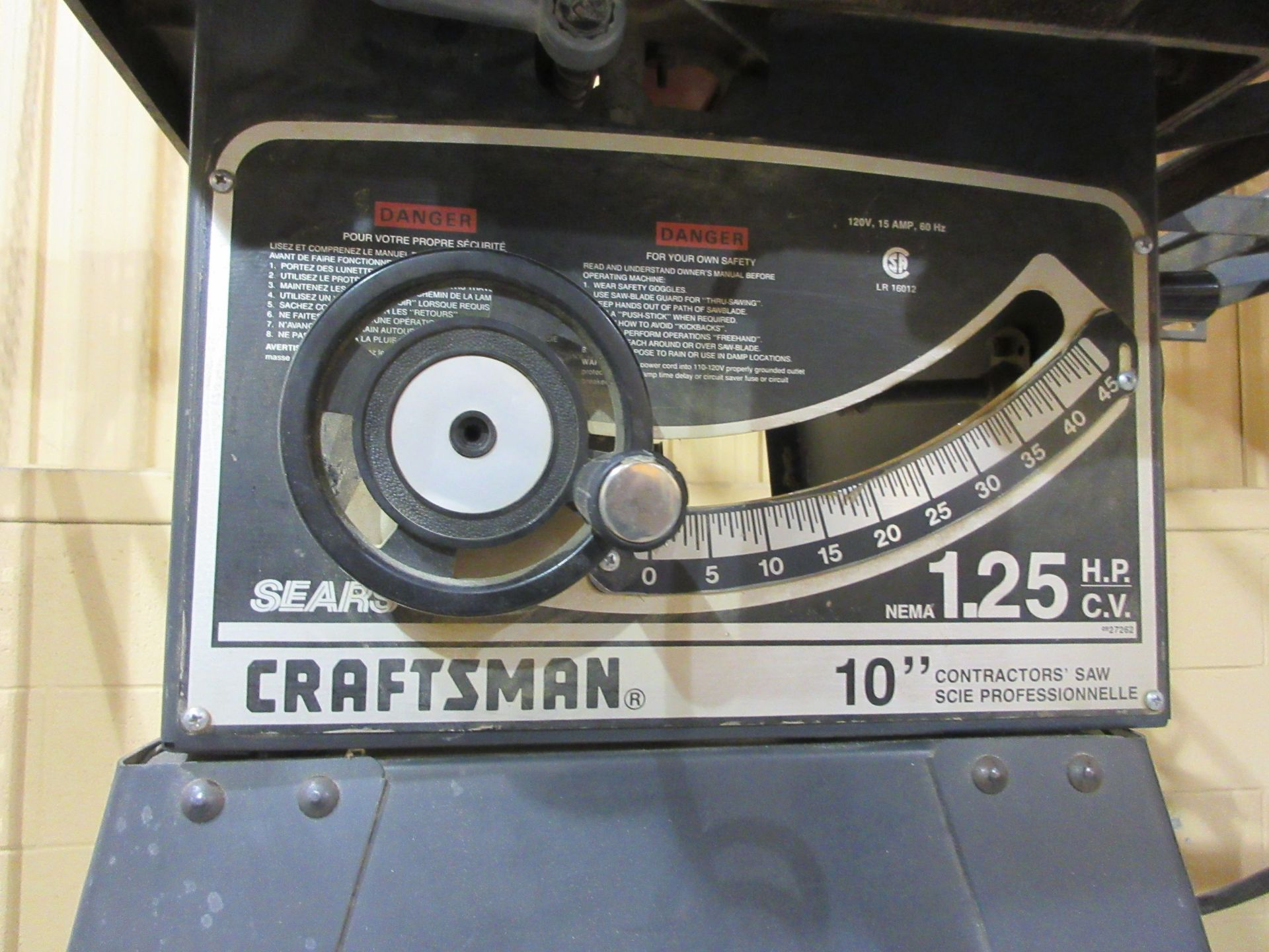 Lot 71 - CRAFSTMAN (10) table saw (mod:113-2726 20C)