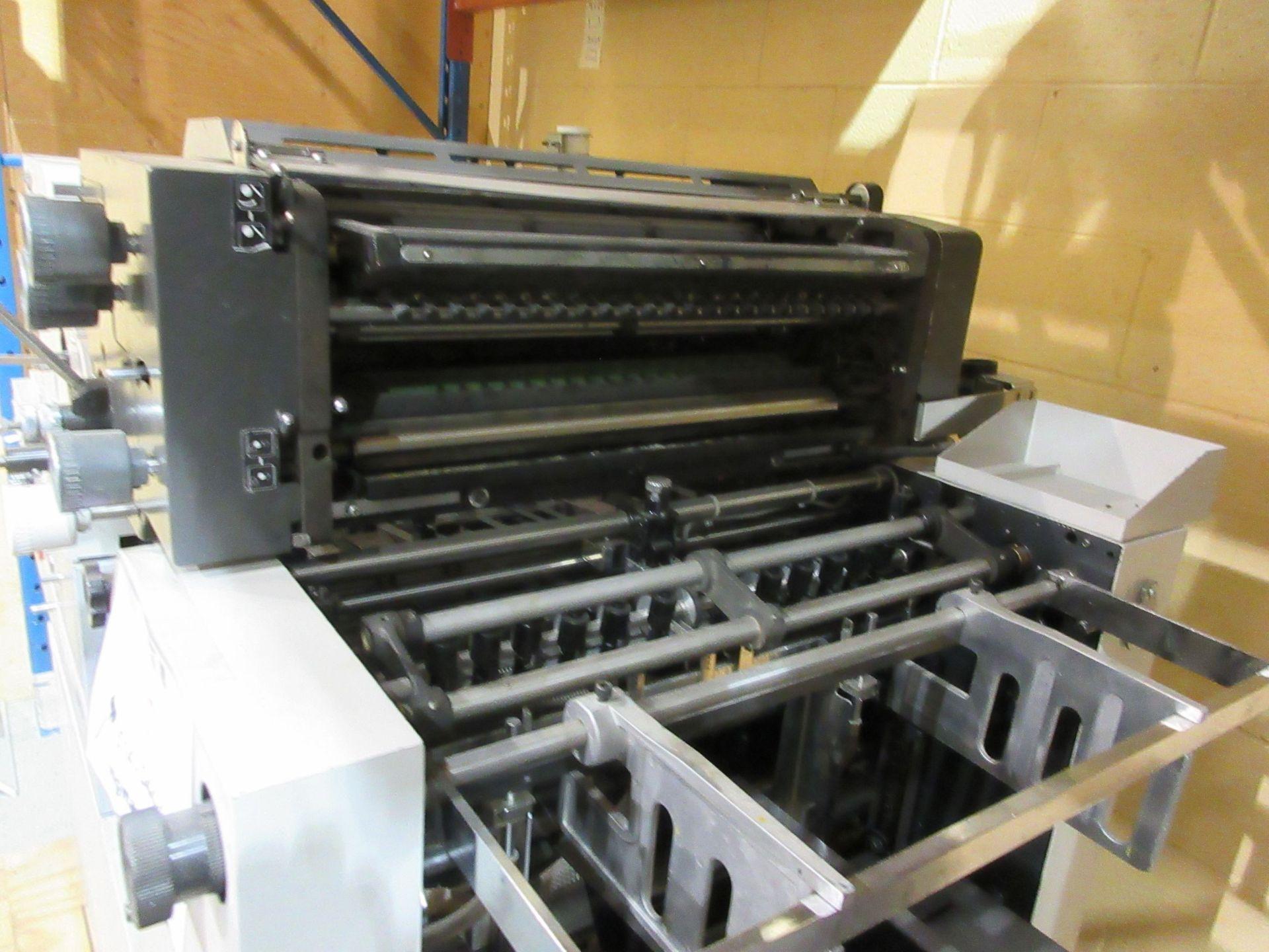 """HAMADA TRUE (2) color offset printing press 14"""" x 17"""" (mod: Superb 47S ) - Image 8 of 9"""