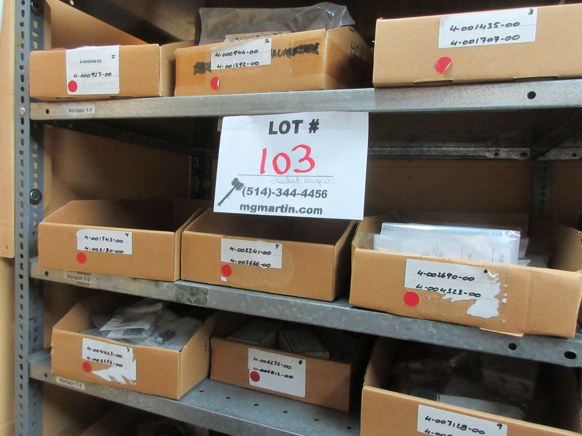 LOT Including boxes of assorted parts for STANDARD HORIZON (approx. Qty 27 boxes) - Image 3 of 6