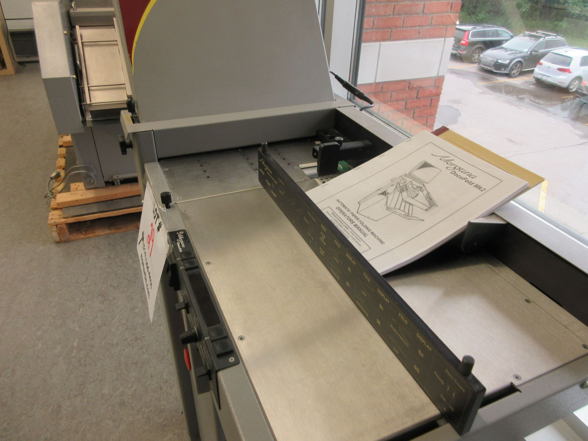 "MORGANA Docufold MK2 automatic paper folding machine 12"" x 18"" - Image 5 of 6"