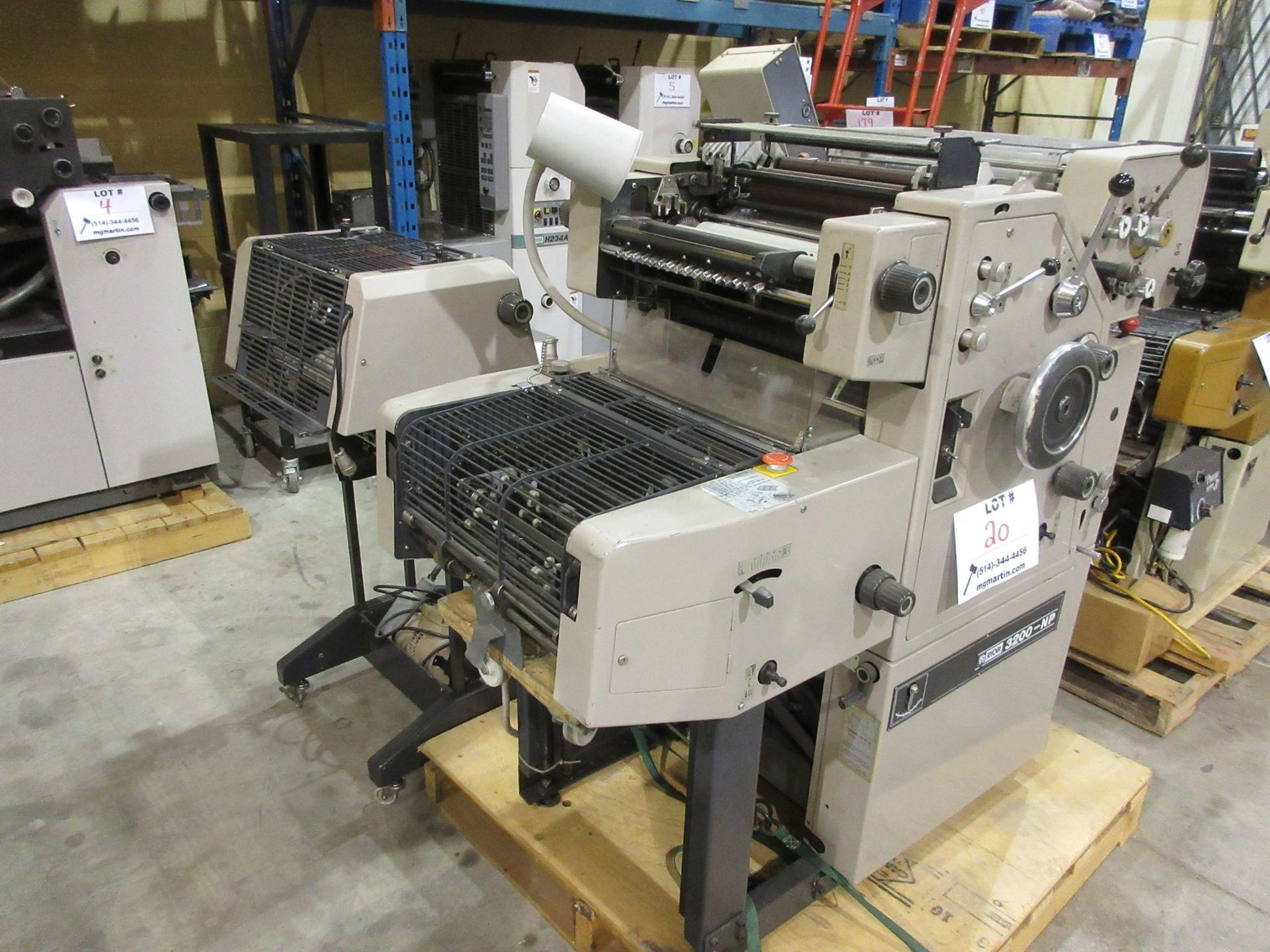 RYOBI ITEK 3200-NP number & perforating (2) color duplicator c/w T-51 color head - Image 3 of 8