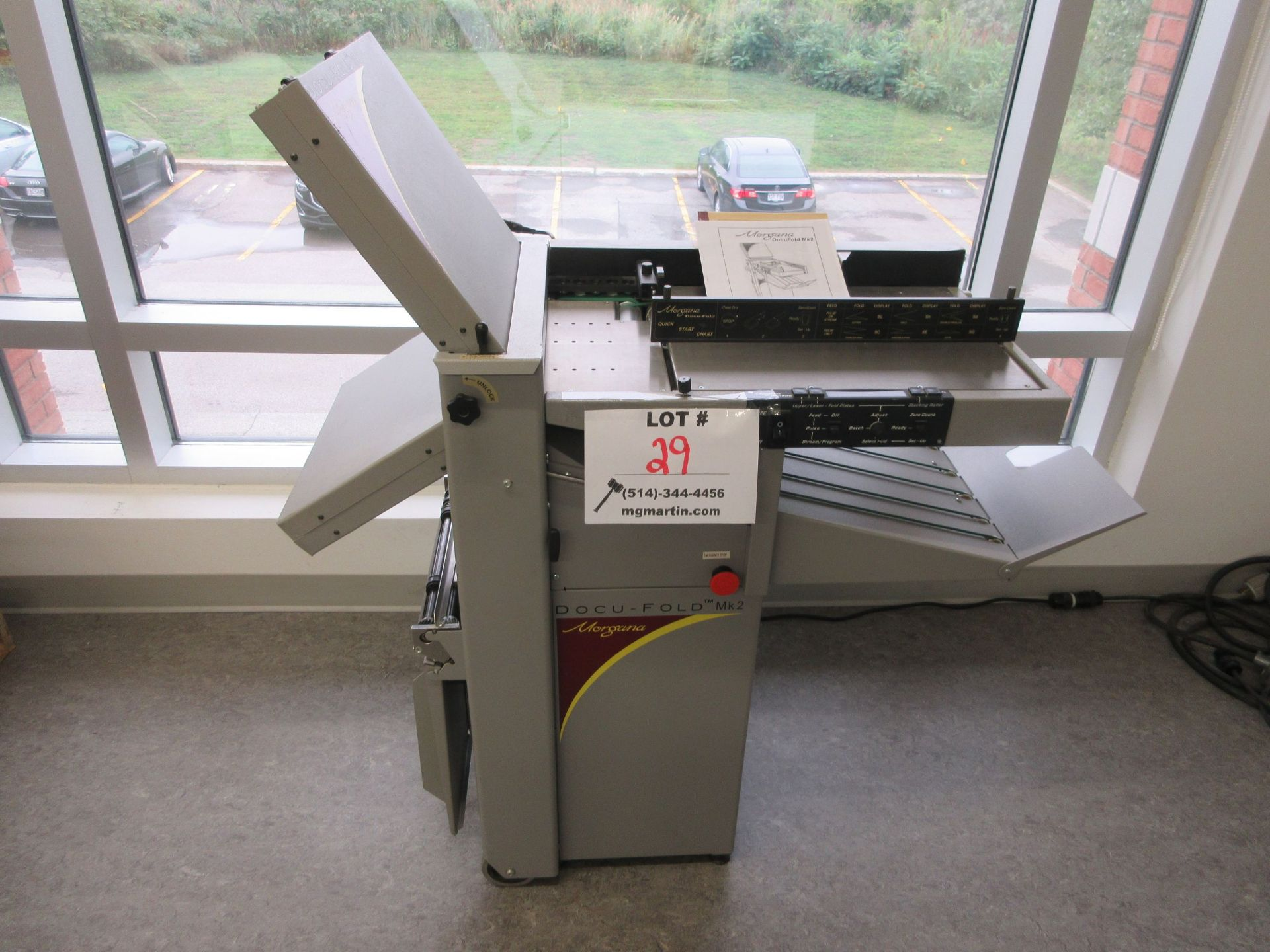 "MORGANA Docufold MK2 automatic paper folding machine 12"" x 18"""
