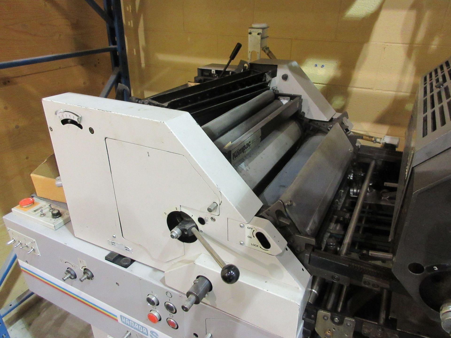 """HAMADA TRUE (2) color offset printing press 14"""" x 17"""" (mod: Superb 47S ) - Image 3 of 9"""