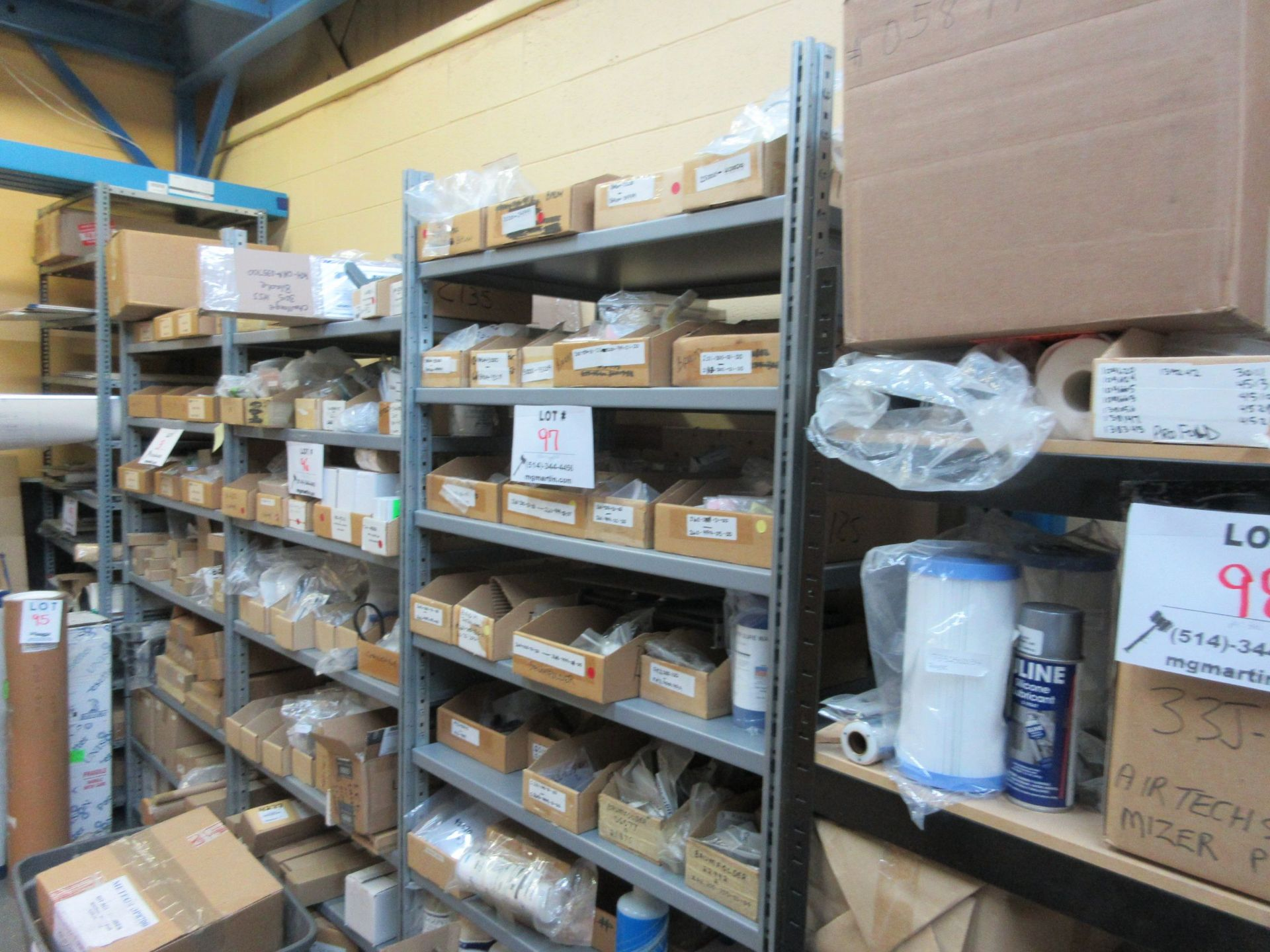 """Sections of metal shelving (37""""w x 2ft d x 99"""" h) (qty 16) - Image 3 of 3"""