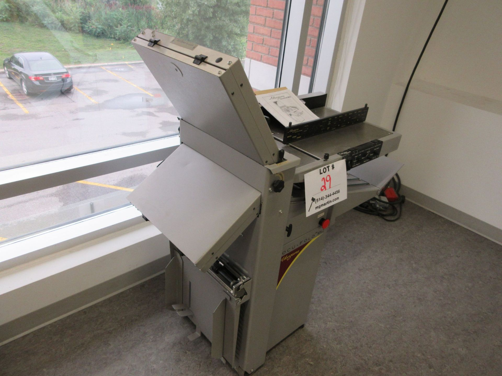 "MORGANA Docufold MK2 automatic paper folding machine 12"" x 18"" - Image 2 of 6"