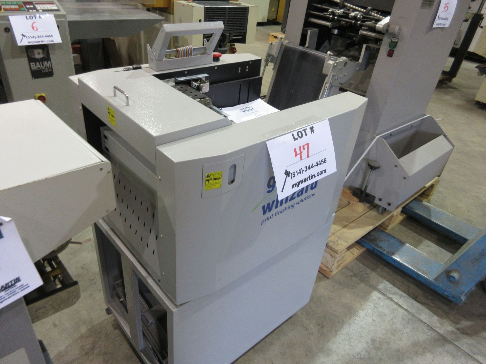 GRAPHIC WHIZARD auto creaser (mod: 335 A+)/KOMPAC automatic dampening system (mod: sp430) (AS IS) - Image 3 of 4