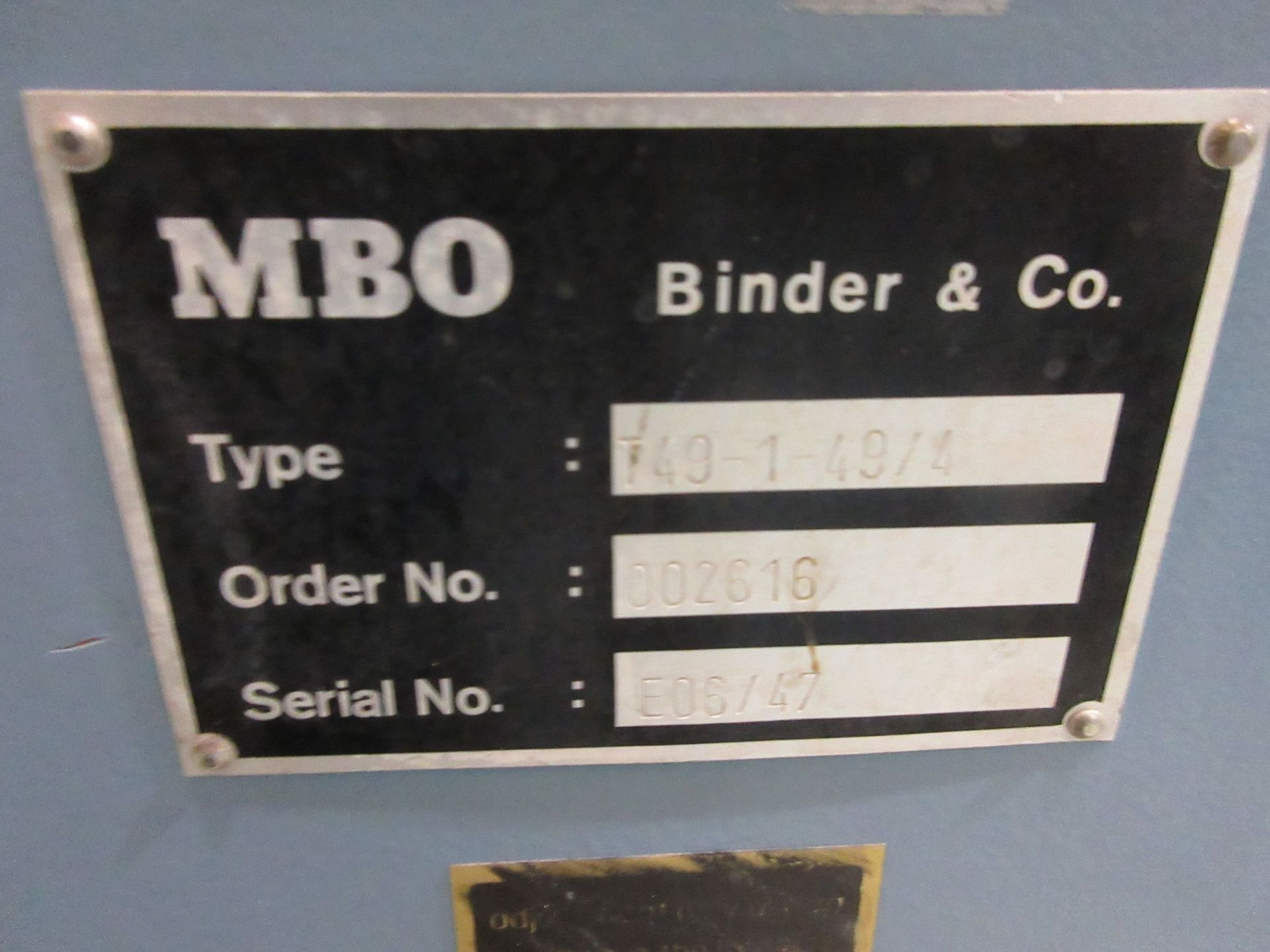 MBO folder c/w pile feeders (type: A49-DC / type: T49-1-49/4) - Image 9 of 15