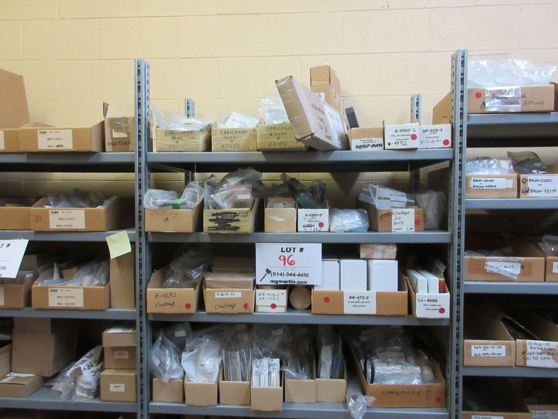 LOT Including boxes of assorted consumable parts for CHALLENGE (paper drills, cutting sticks, wooden
