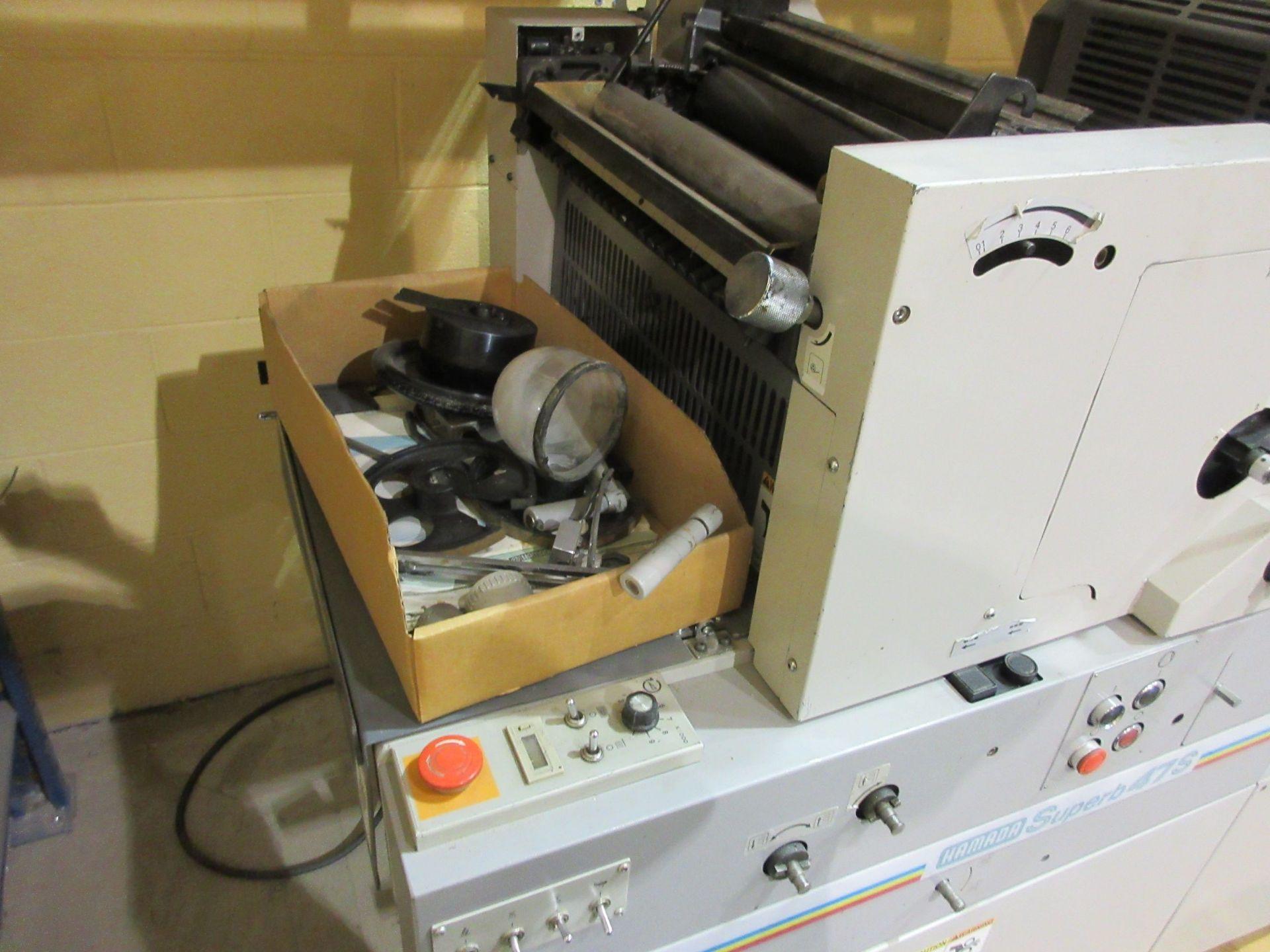 """HAMADA TRUE (2) color offset printing press 14"""" x 17"""" (mod: Superb 47S ) - Image 9 of 9"""