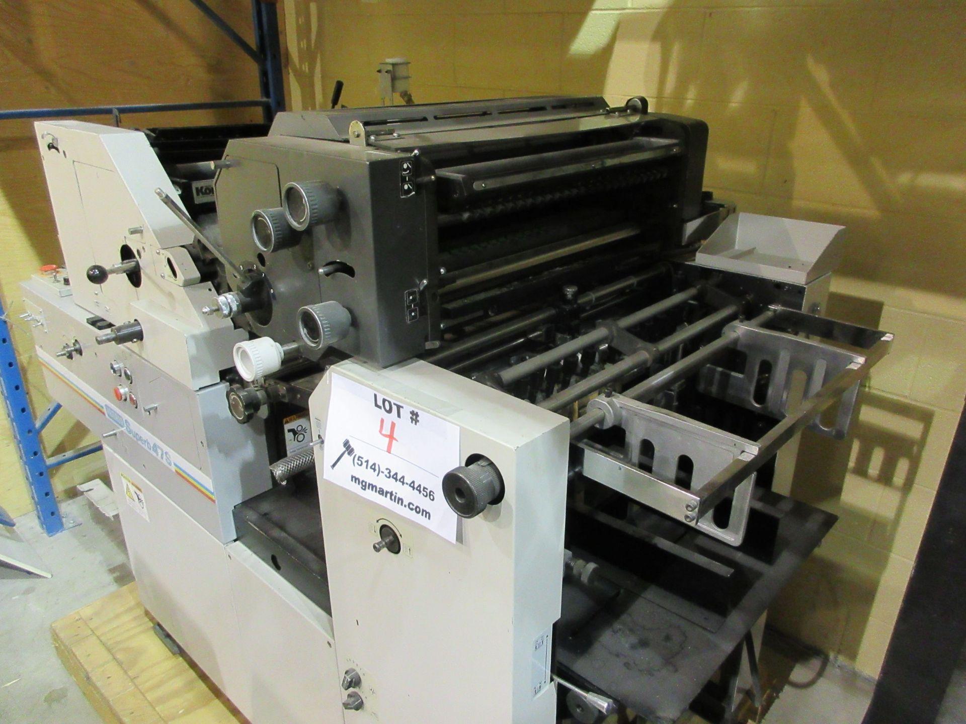 """HAMADA TRUE (2) color offset printing press 14"""" x 17"""" (mod: Superb 47S ) - Image 6 of 9"""