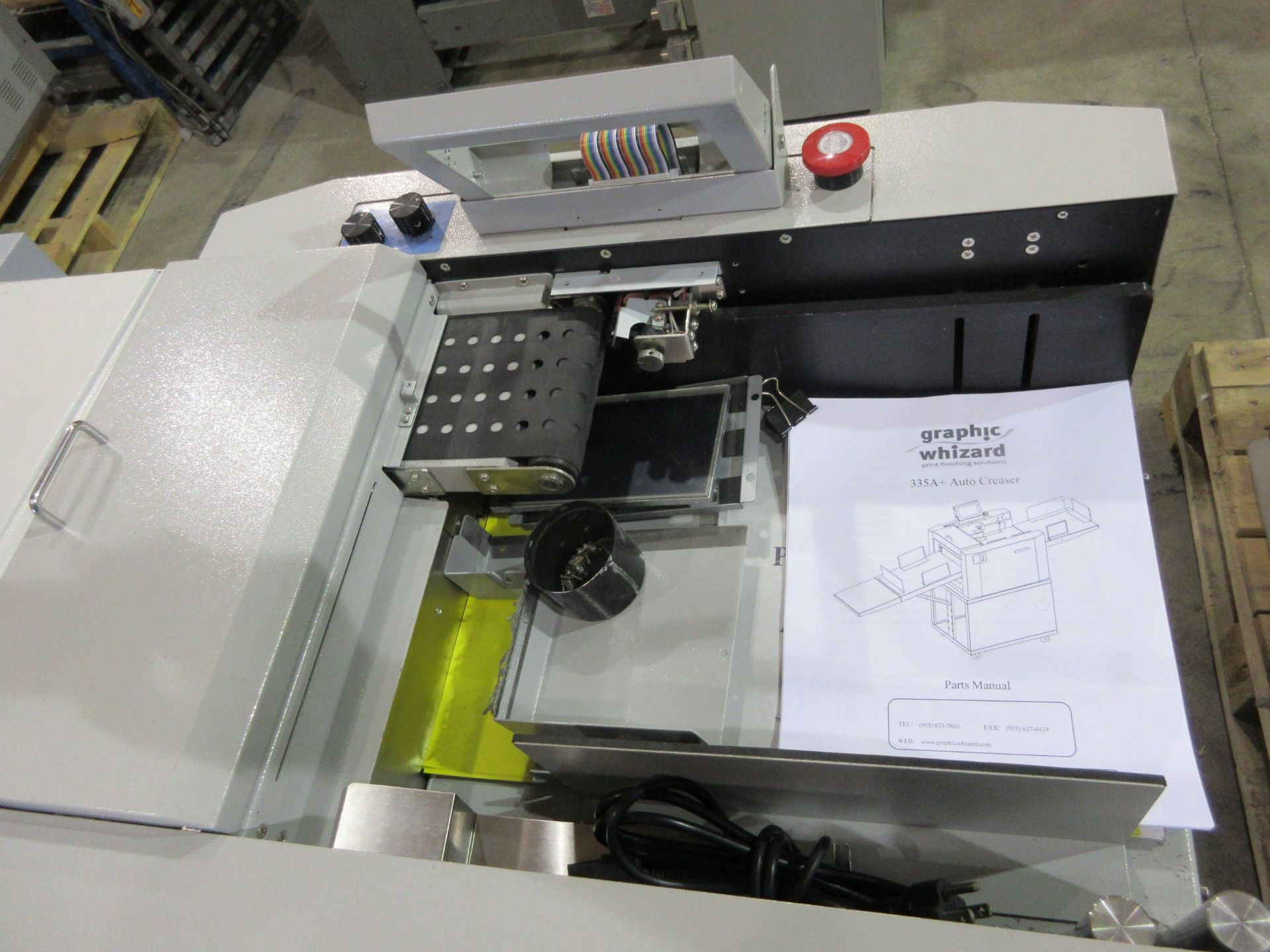 GRAPHIC WHIZARD auto creaser (mod: 335 A+)/KOMPAC automatic dampening system (mod: sp430) (AS IS) - Image 2 of 4