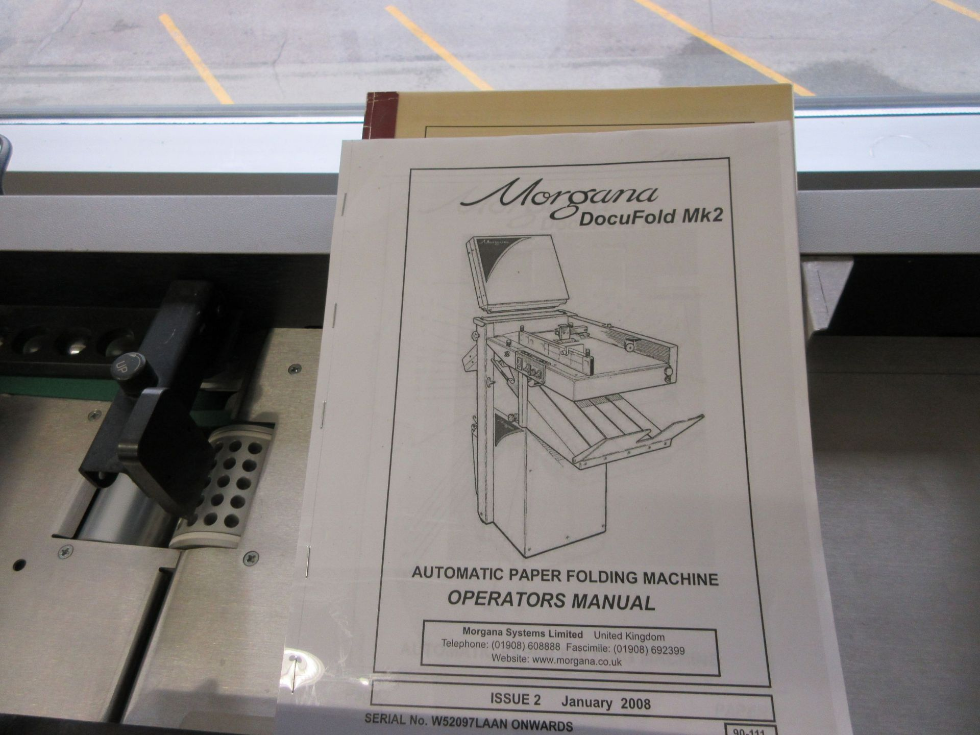 "MORGANA Docufold MK2 automatic paper folding machine 12"" x 18"" - Image 6 of 6"