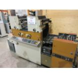 RYOBI ITEK 3985 TRUE (2) color offset press c/w ROYCE chiller