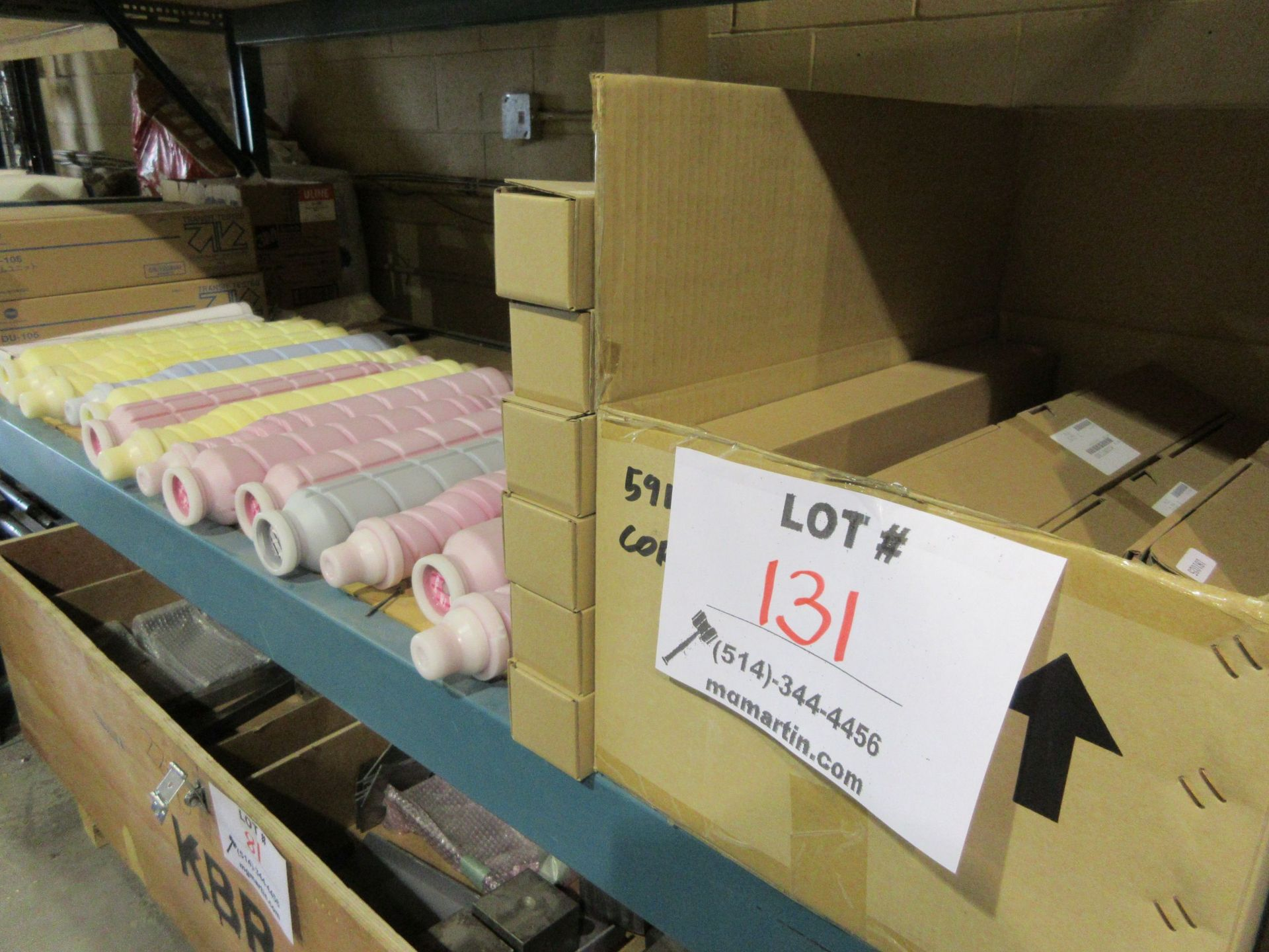 Lot 131 - LOT Including assorted services spare parts (ink, etc.)