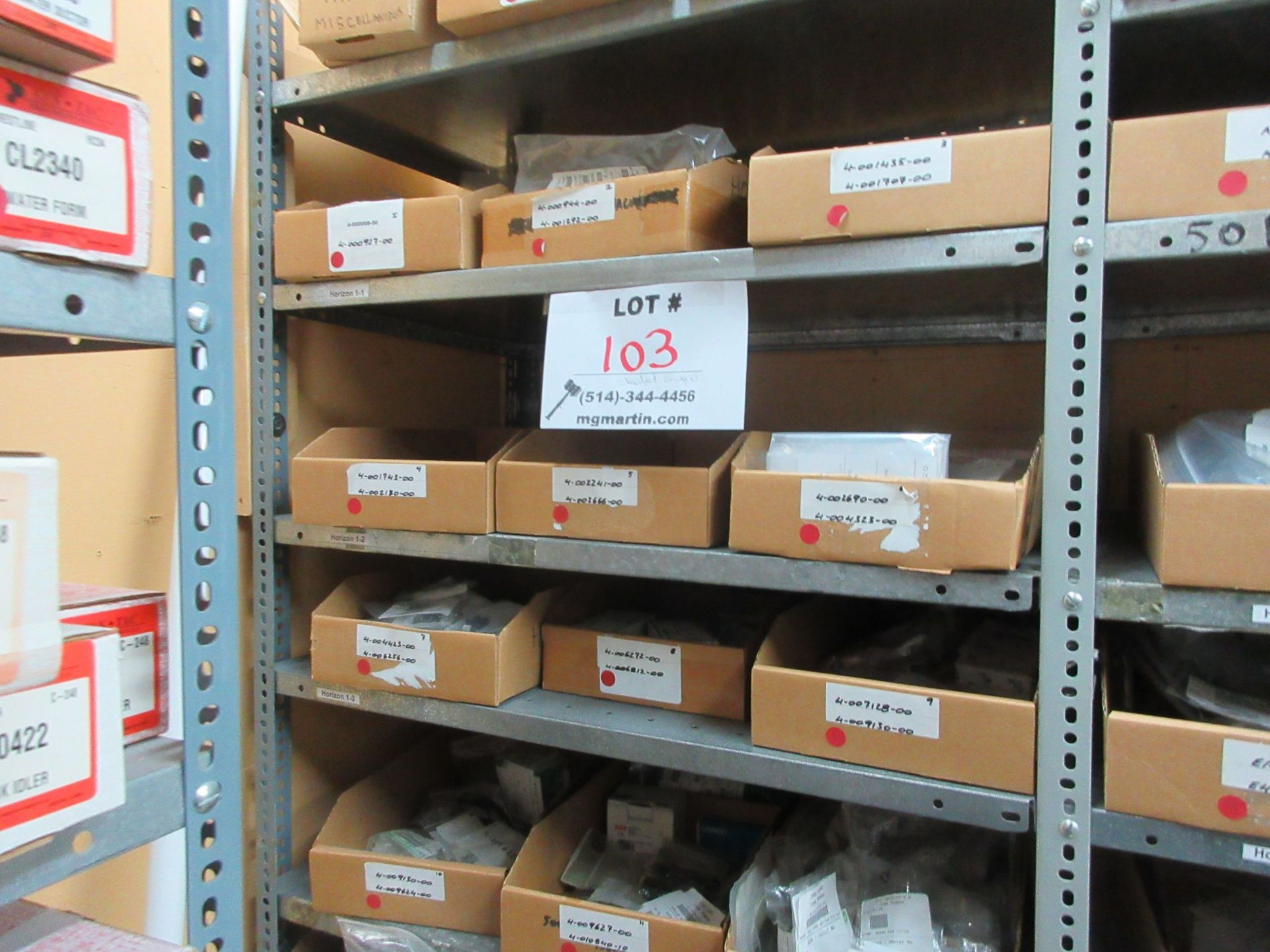 LOT Including boxes of assorted parts for STANDARD HORIZON (approx. Qty 27 boxes)