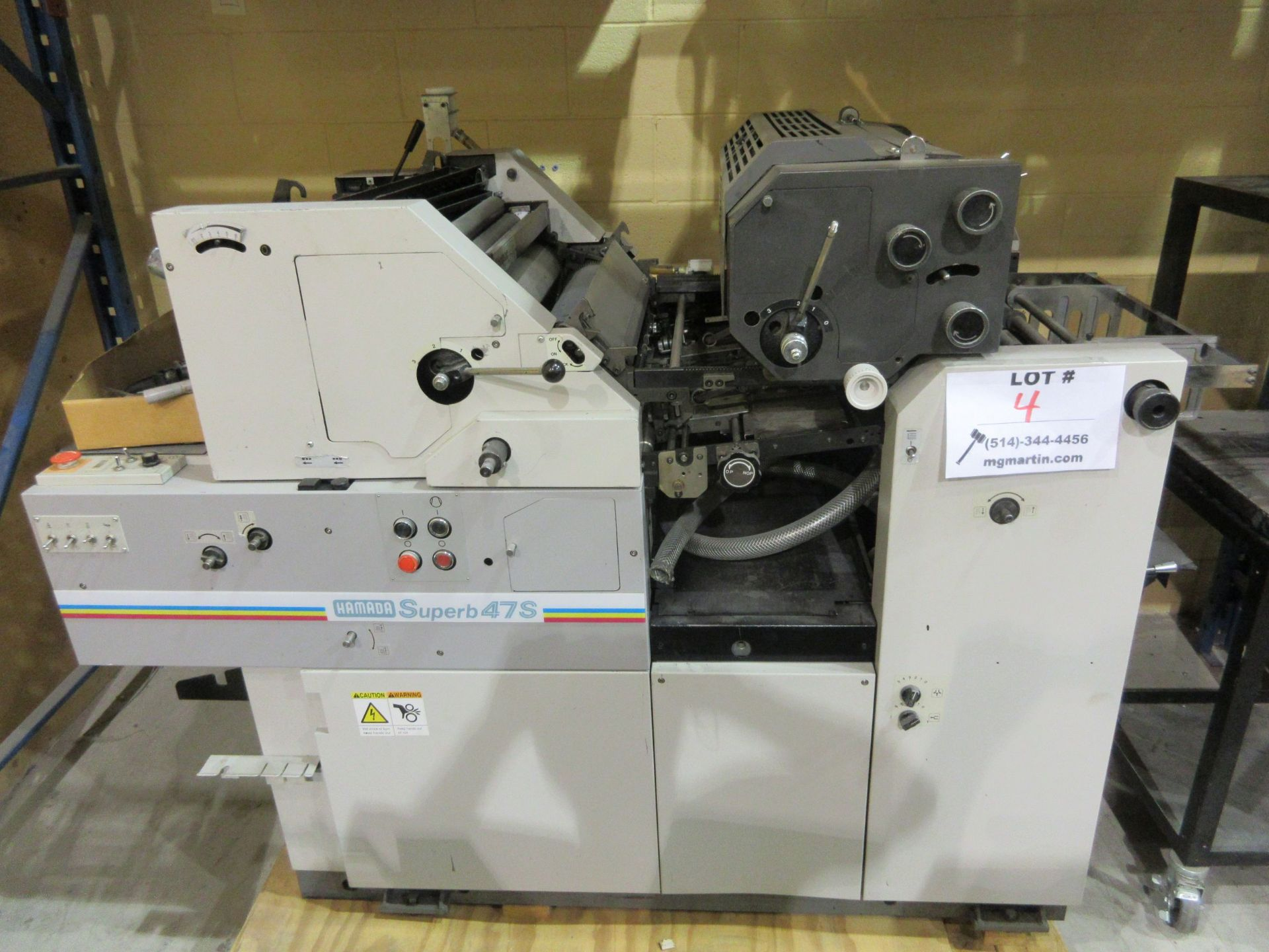 """HAMADA TRUE (2) color offset printing press 14"""" x 17"""" (mod: Superb 47S ) - Image 2 of 9"""