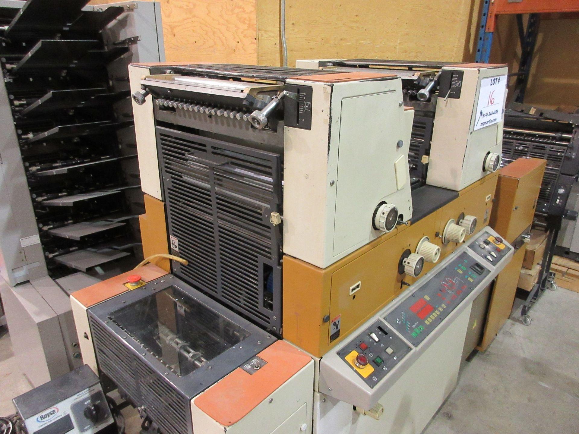 RYOBI ITEK 3985 TRUE (2) color offset press c/w ROYCE chiller - Image 8 of 8