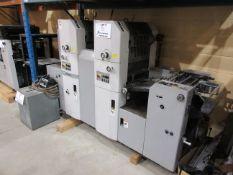 HAMADA (2) color offset printing press c/w chiller (mod: H23 4A TRUE )