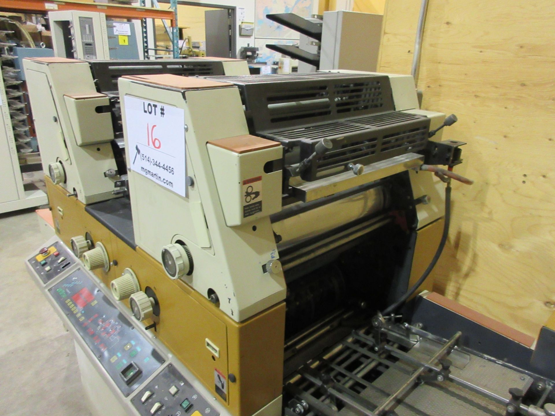 RYOBI ITEK 3985 TRUE (2) color offset press c/w ROYCE chiller - Image 5 of 8