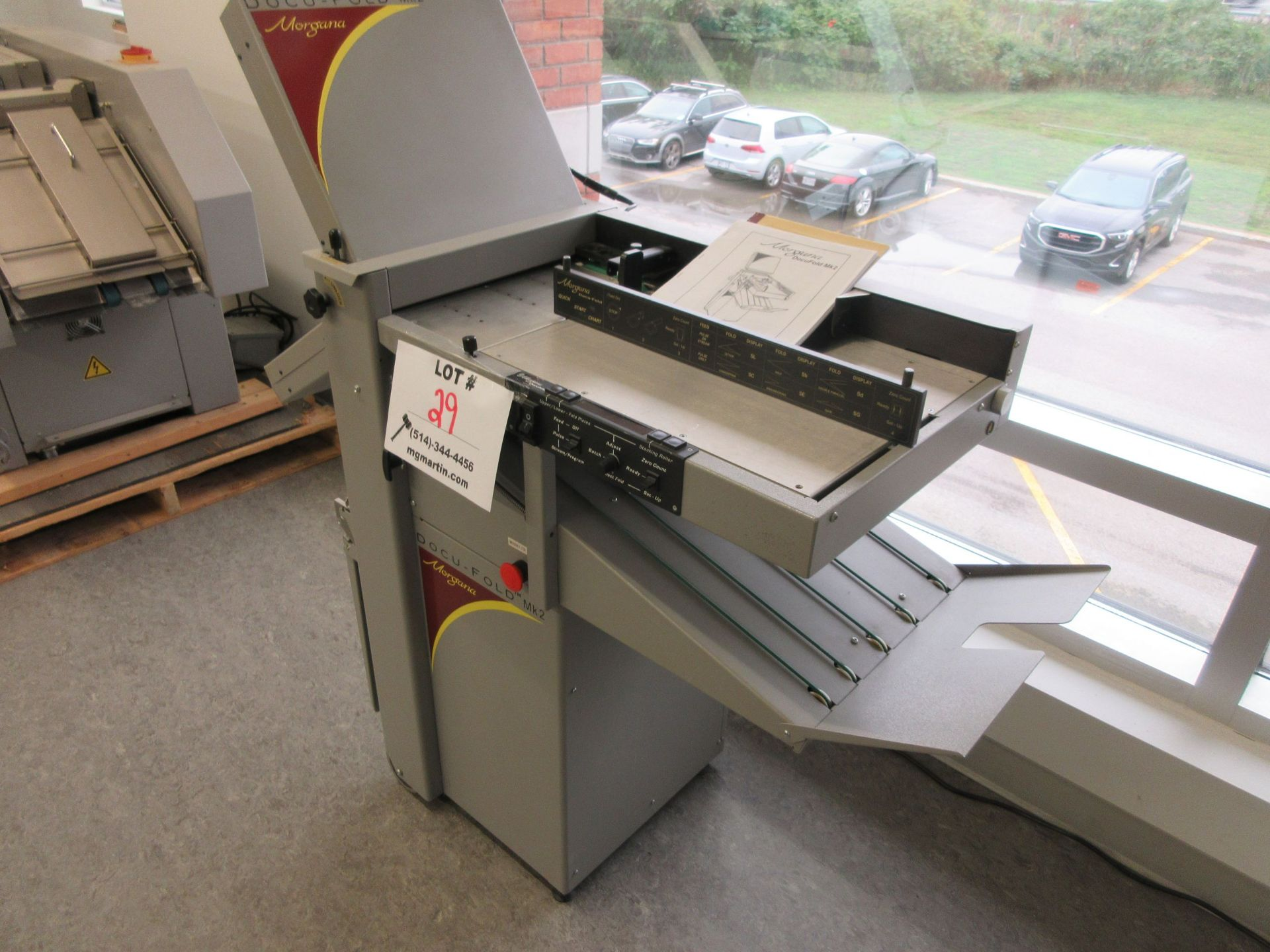 "MORGANA Docufold MK2 automatic paper folding machine 12"" x 18"" - Image 3 of 6"