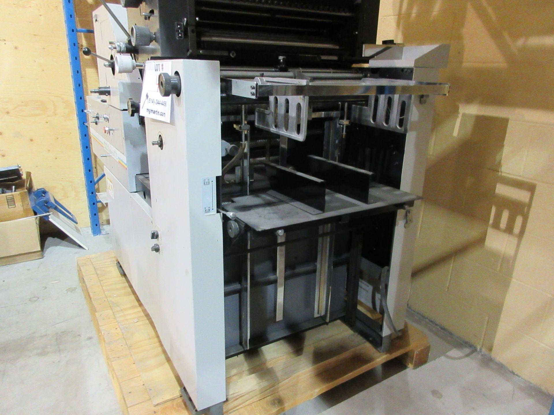 """HAMADA TRUE (2) color offset printing press 14"""" x 17"""" (mod: Superb 47S ) - Image 7 of 9"""