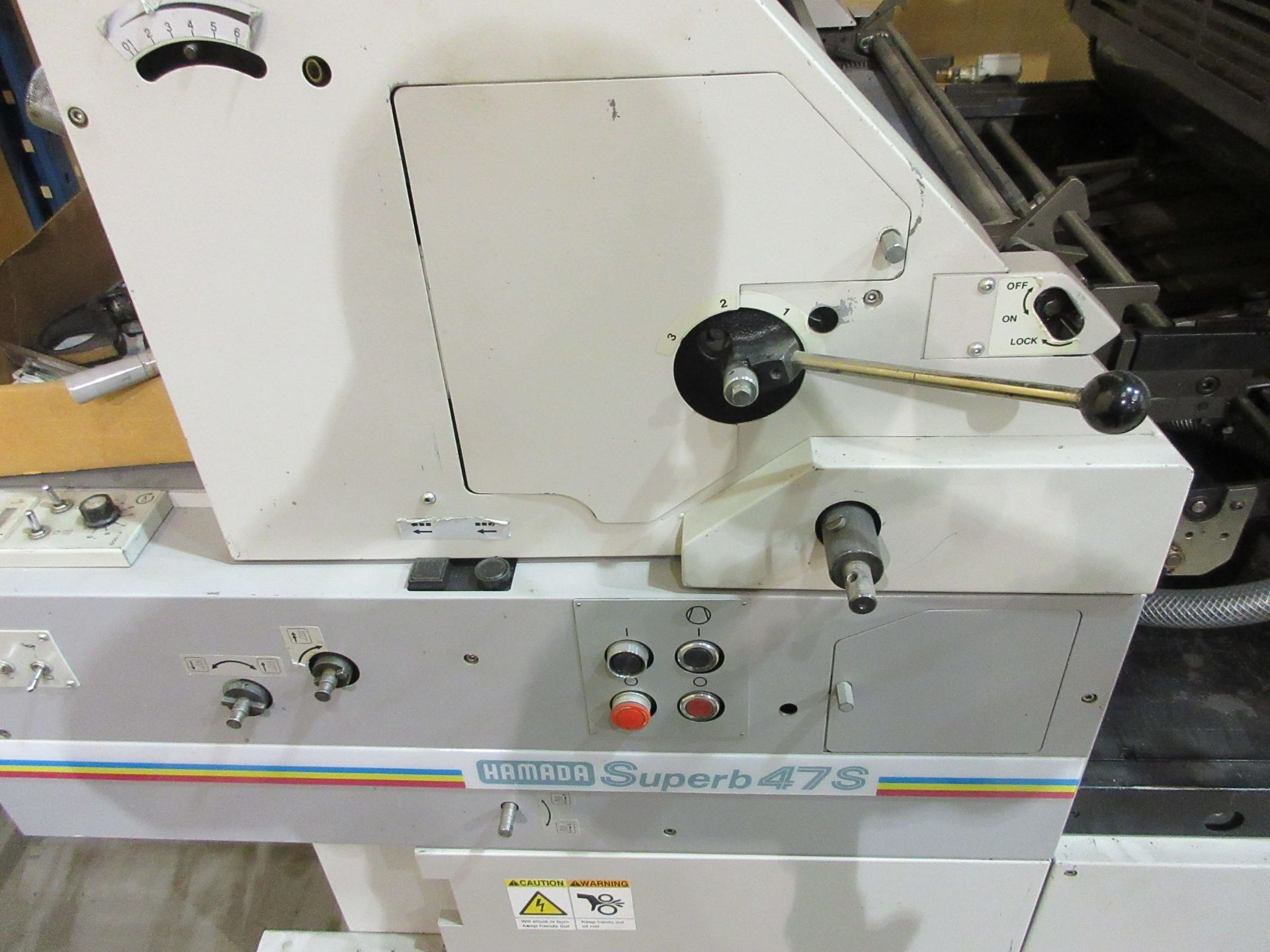 """HAMADA TRUE (2) color offset printing press 14"""" x 17"""" (mod: Superb 47S ) - Image 4 of 9"""