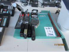 LOT Including PREMIER paper trimmer, (2) STANLEY Bostitch staples (mod: 00540, B310HDS) & assorted
