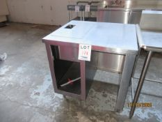 """S/S table w/ section for insert (approx. 34""""w x 30""""d x 36""""h)"""