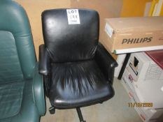 """LOT Including (3) office chairs & table (approx. 53""""w x 36""""d x 29""""h)"""