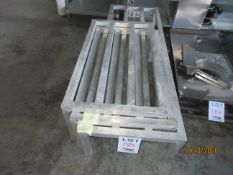 """LOT Including (3) aluminium platforms in assorted sizes ( approx. 36""""w, 60""""w x 20""""d x 12""""h)"""